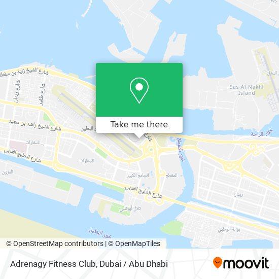 Adrenagy Fitness Club map