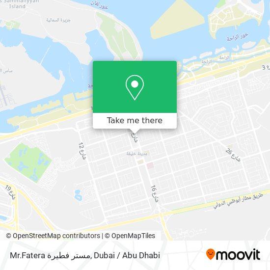 Mr.Fatera مستر فطيرة map