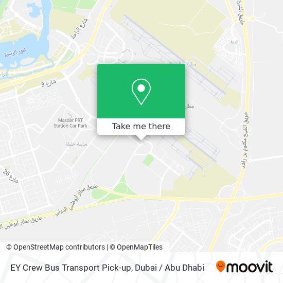 EY Crew Bus Transport Pick-up Karte