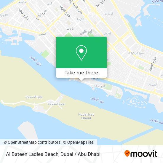Al Bateen Ladies Beach map