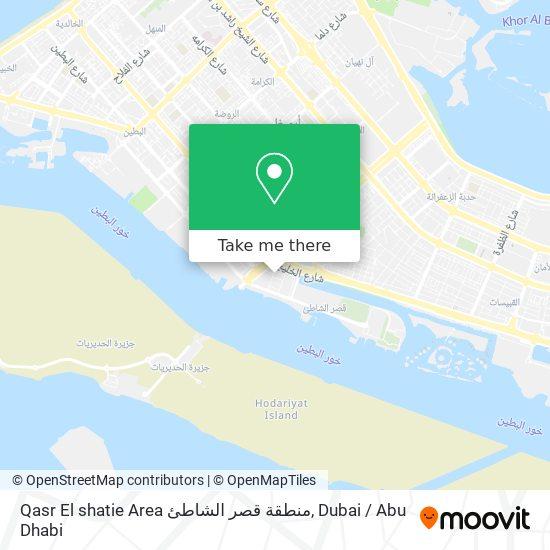Qasr El shatie Area منطقة قصر الشاطئ map
