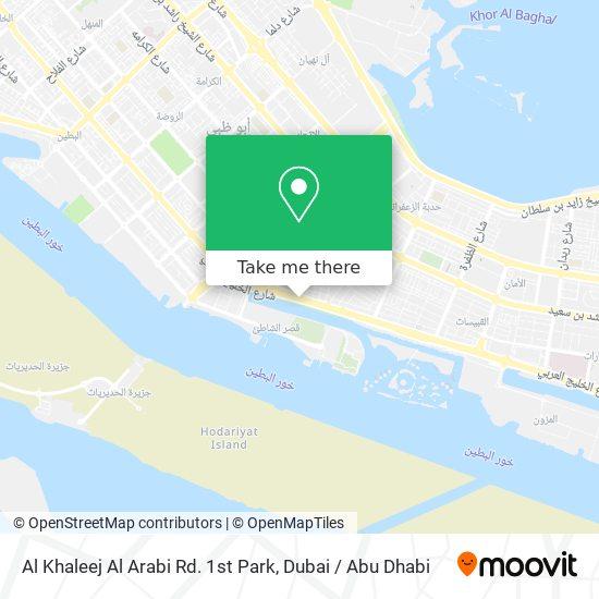 Al Khaleej Al Arabi Rd. 1st Park map