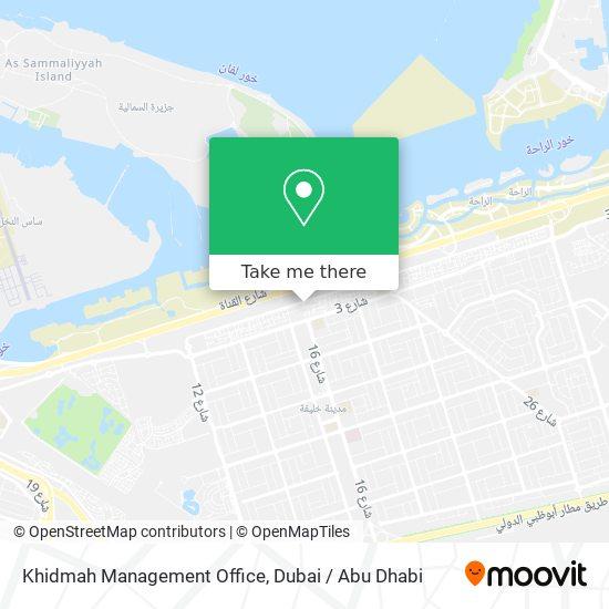 Khidmah Management Office map