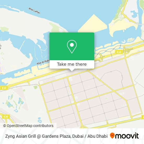 Zyng Asian Grill @ Gardens Plaza map