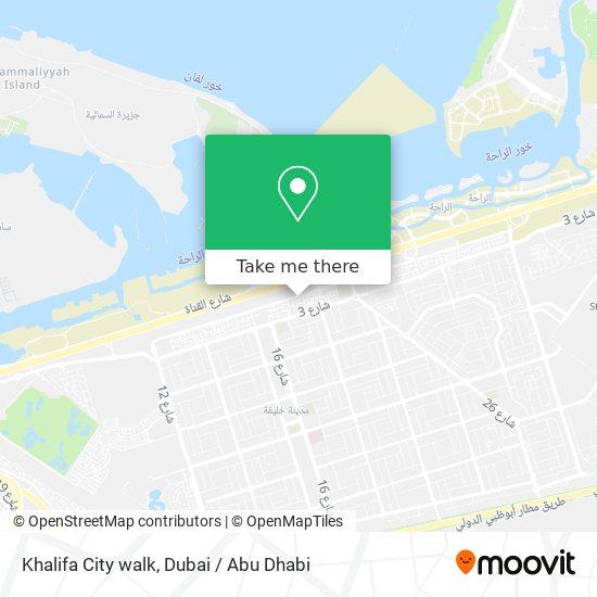 Khalifa City walk map