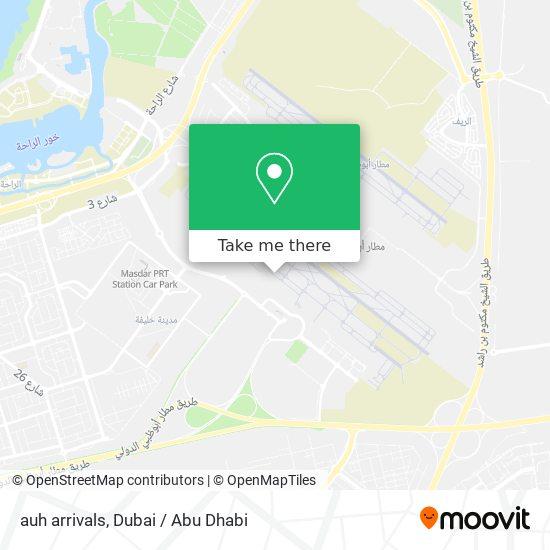 auh arrivals map