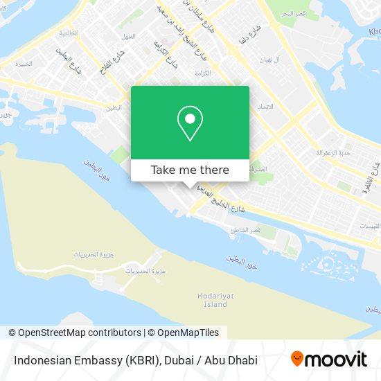 Indonesian Embassy (KBRI) map