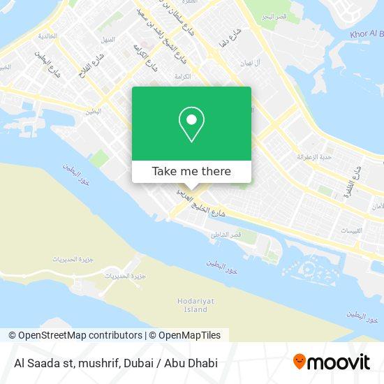 Al Saada st, mushrif map