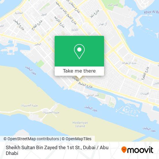 Sheikh Sultan Bin Zayed the 1st St. map