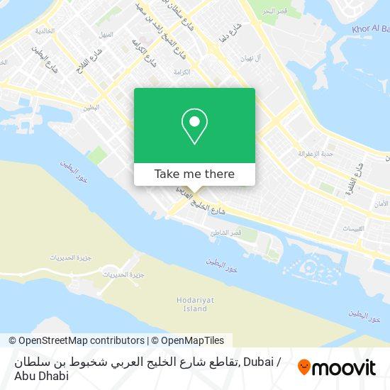 تقاطع شارع الخليج العربي شخبوط بن سلطان map