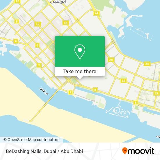 BeDashing Nails map