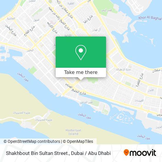 Shakhbout Bin Sultan Street. map