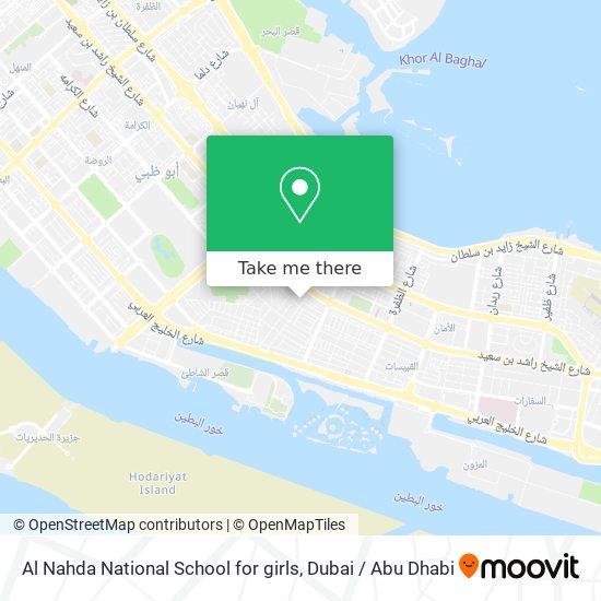 Al Nahda National School for girls map