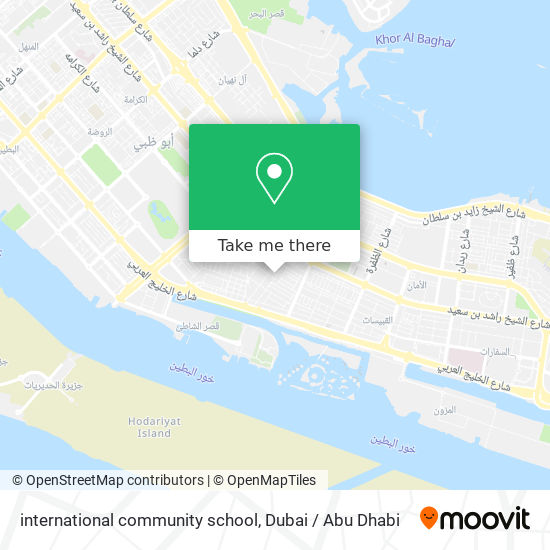 international community school map