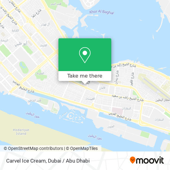 Carvel Ice Cream map