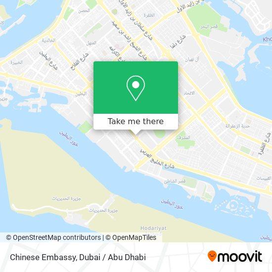 Chinese Embassy map