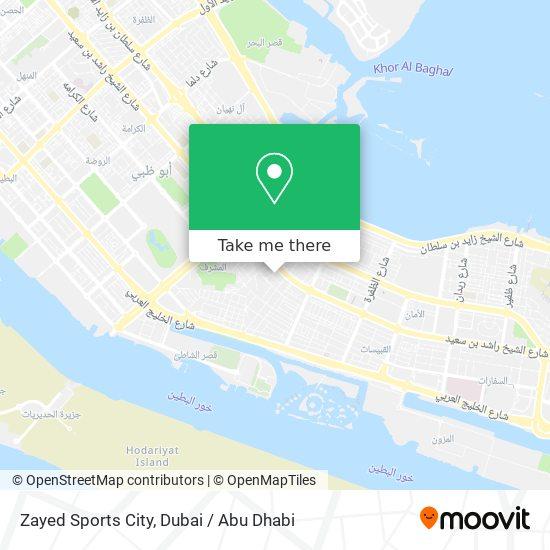 Zayed Sports City map