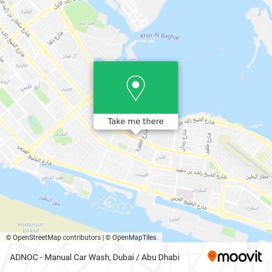 ADNOC - Manual Car Wash map