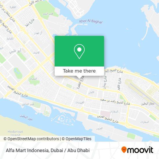 Alfa Mart Indonesia map
