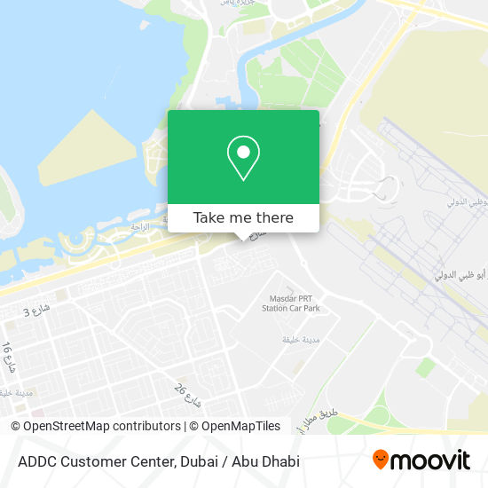 ADDC Customer Center map