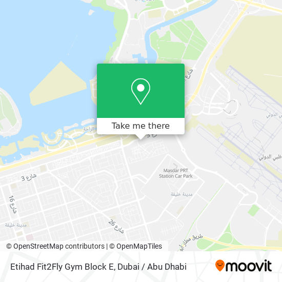 Etihad Fit2Fly Gym Block E map