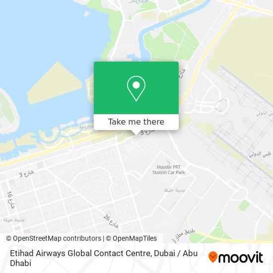 Карта Etihad Airways Global Contact Centre