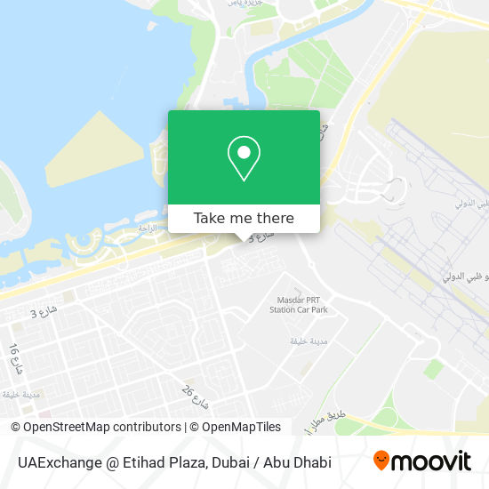 UAExchange @ Etihad Plaza map