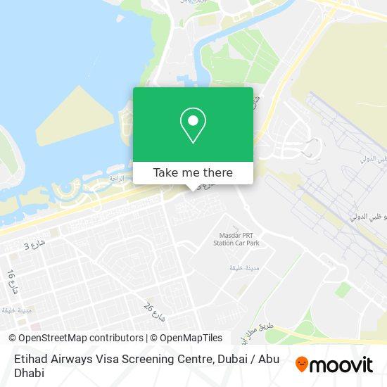 Etihad Airways Visa Screening Centre map