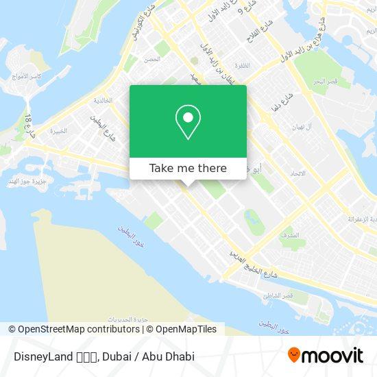 DisneyLand 🏰🗼🏰 map