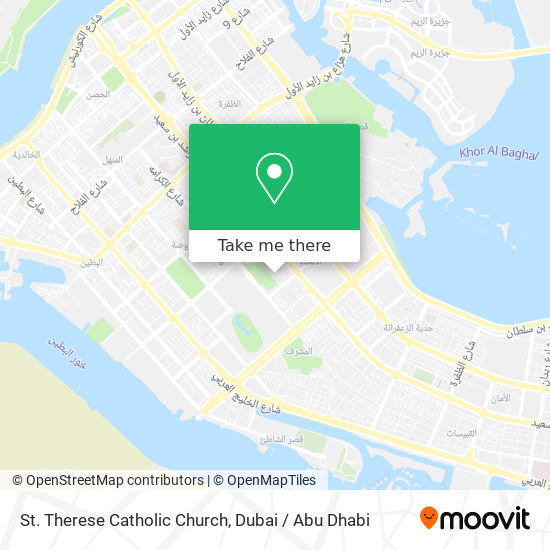 St. Therese Catholic Church map