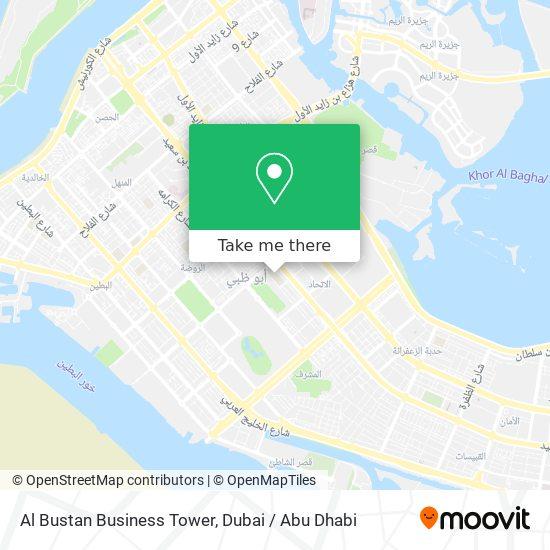 Al Bustan Business Tower map
