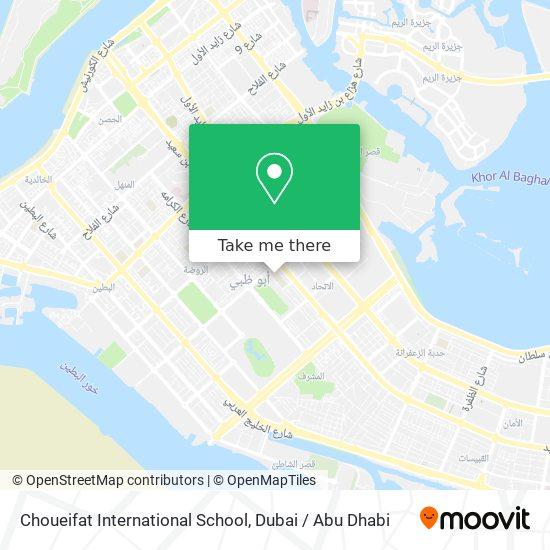 Choueifat International School map