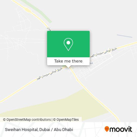 Sweihan Hospital map