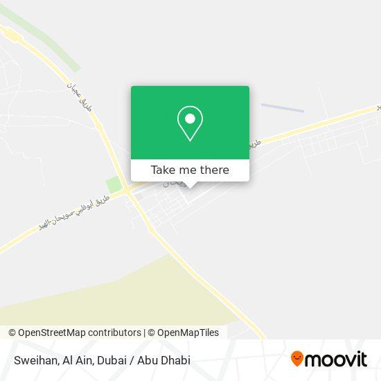 Sweihan, Al Ain map