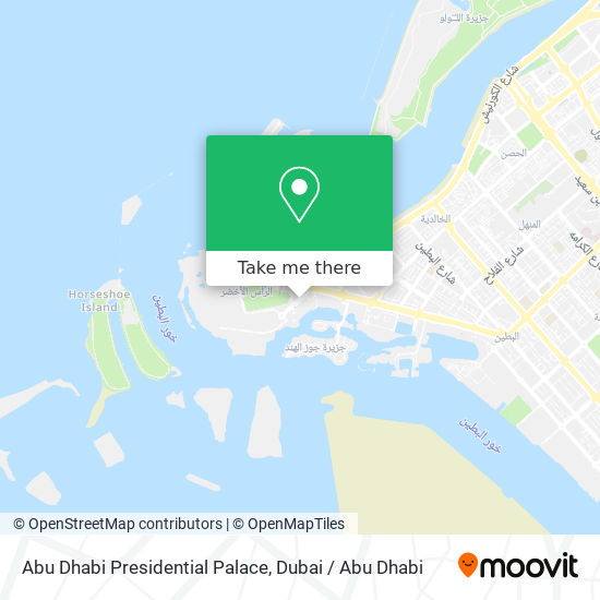Abu Dhabi Presidential Palace map