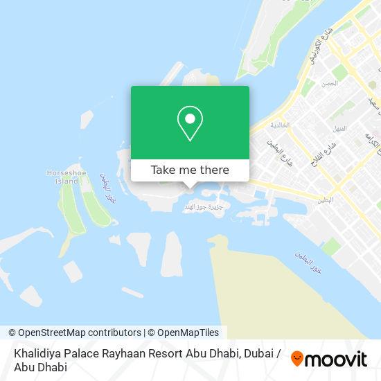 Khalidiya Palace Rayhaan Resort Abu Dhabi map
