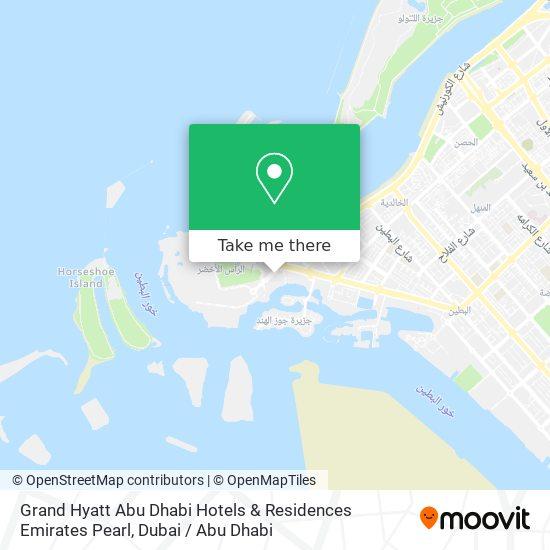 Grand Hyatt Abu Dhabi Hotels & Residences Emirates Pearl map