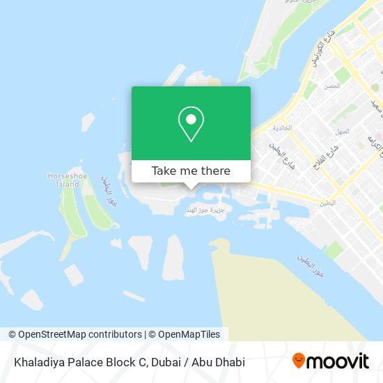 Khaladiya Palace Block C map