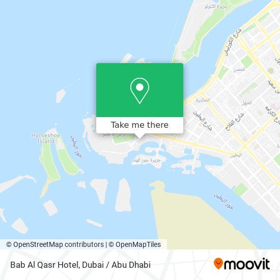 Bab Al Qasr Hotel map