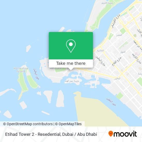 Etihad Tower 2 - Resedential map