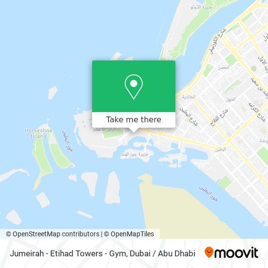Jumeirah - Etihad Towers - Gym map