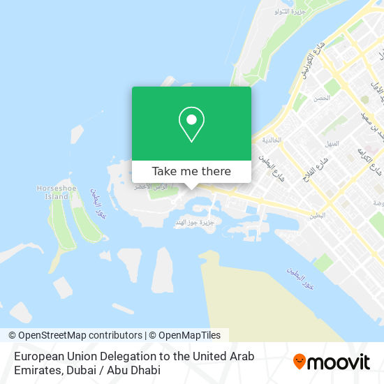 European Union Delegation to the United Arab Emirates map