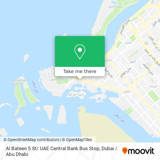 Al Bateen 5 St/ UAE Central Bank Bus Stop map