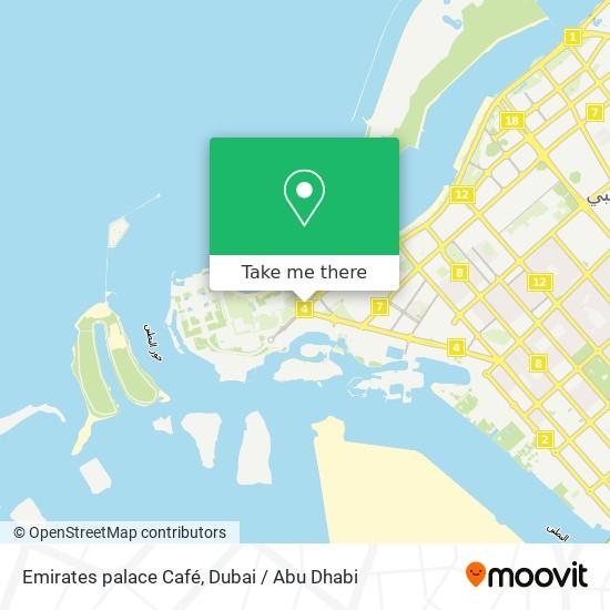 Emirates palace Café map