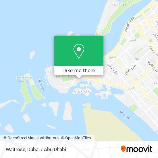 Waitrose map