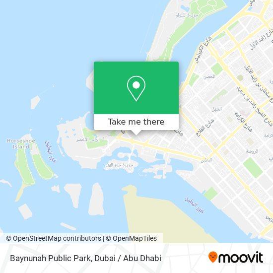 Baynunah Public Park map
