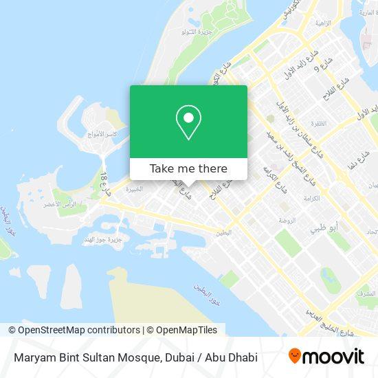 Maryam Bint Sultan Mosque map