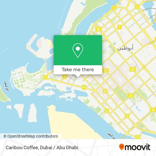 Caribou Coffee map
