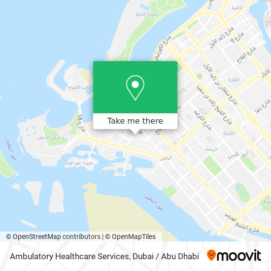 Ambulatory Healthcare Services map
