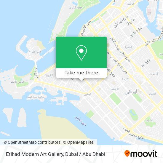Etihad Modern Art Gallery map